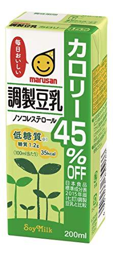 マルサン 調製豆乳 カロリー45%オフ 200ml ×24本