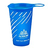 k-outdoor スポーツソフトウォーターカップ ボトル エコ マラソンカップ 折り畳み式 クロスカントリー ランニング 200ml ブルー