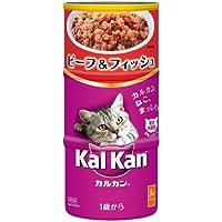 カルカン ハンディ缶 成猫用 1歳から ビーフ&フィッシュ 160g×3缶×18個 [キャットフード]