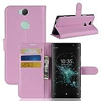フリップ 財布 シェル の Sony Xperia XA2 Plus 耐久保護ケース 衝撃 保護 〜と カード スロットs 軽量 優れた 且つ 調節可能な 立つ Pink