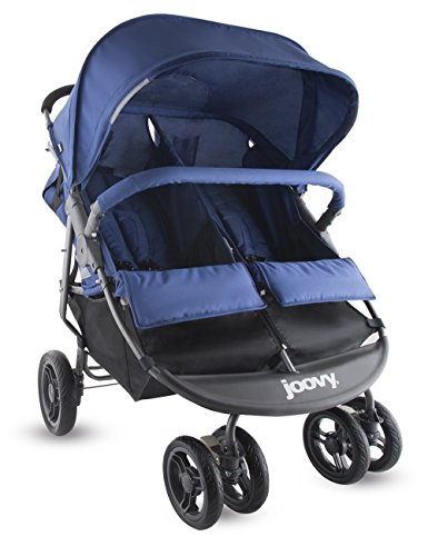 JOOVY ベビーカー Scooter X2 Double Stroller, Black 二人乗り (Blueberry) [並行輸入品]