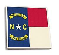 North Carolina State Flag–活版 4 Coaster Set LANT-51124-CT