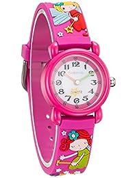 [チックタック] TICKTOCK キッズ腕時計 クオーツ アナログ表示 子供 ガールズ ウォッチ子供の日 入学 通学 入園 通園 新学期 誕生日 お祝い プレゼント (レッド) [並行輸入品]