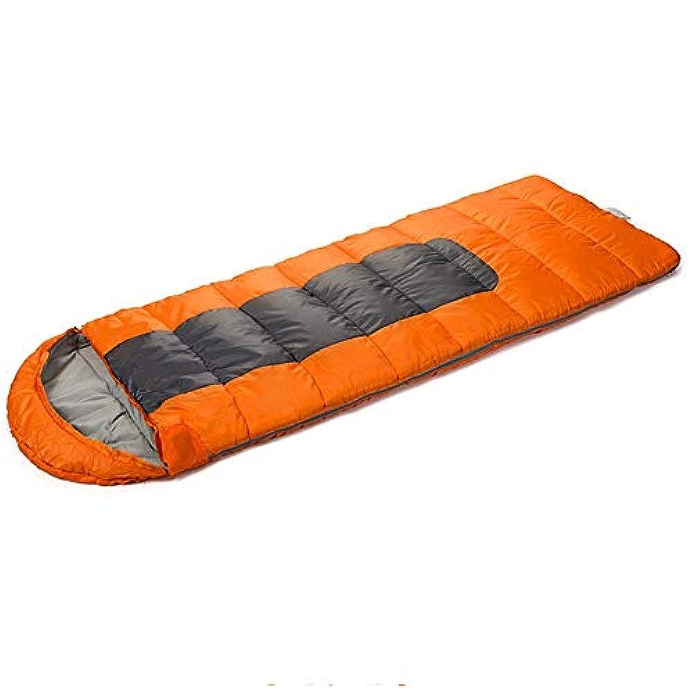 叫び声予報ハブブTLMYDD 寝袋大人のキャンプアウトドアシーズン厚い暖かい寝袋 寝袋 (Color : Orange)