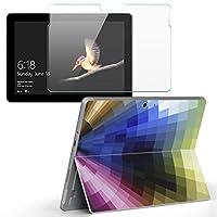 Surface go 専用スキンシール ガラスフィルム セット サーフェス go カバー ケース フィルム ステッカー アクセサリー 保護 クール カラフル シンプル 002114