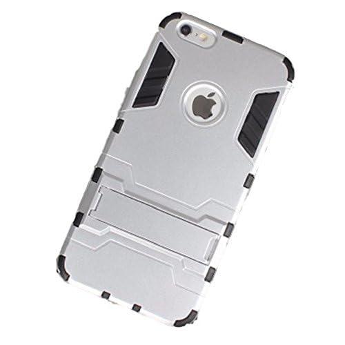 Youchan(ヨウチャン) アイフォン ケース メタリック メンズiPhone5 iPhone5s iPhone6 iPhone6s iPhone6Plus iPhone6sPlus 携帯ケース スマートフォン 耐衝撃 抗震 360度 二重構造 カバー ハード スマホ 携帯電話 グッズ 小物 (iphone6/6s, シルバー)