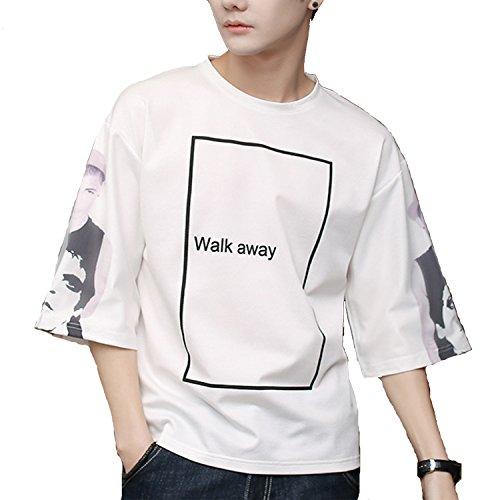 メンズ ビッグTシャツ 7分袖 オーバーサイズ ビッグシルエット Tシャツ