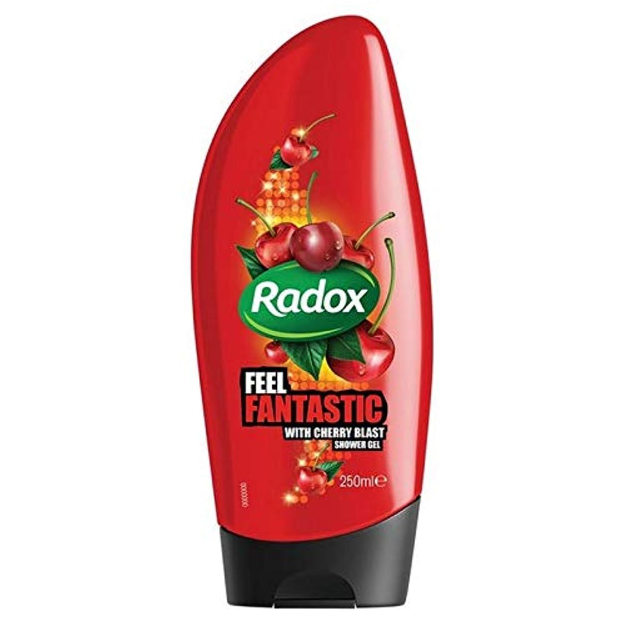 灌漑しなやかな宴会[Radox] Radox桜ブラストシャワージェル250ミリリットル - Radox Cherry Blast Shower Gel 250ml [並行輸入品]