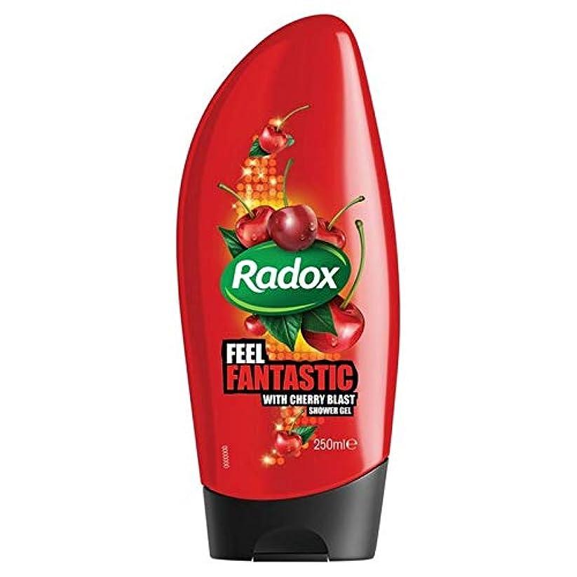 レンズ自殺非難[Radox] Radox桜ブラストシャワージェル250ミリリットル - Radox Cherry Blast Shower Gel 250ml [並行輸入品]