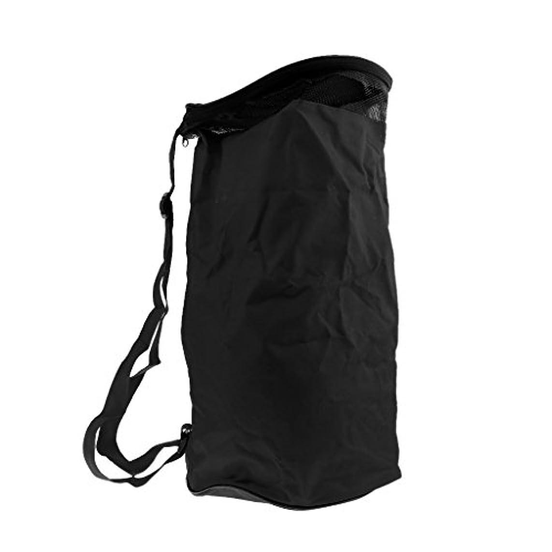 のみ最初にためにDovewill 耐久性 防水性 バスケットボール キャリーバッグ スポーツ バックパック ハンドバッグ 2ボール収納 全5色選ぶ - ブラック