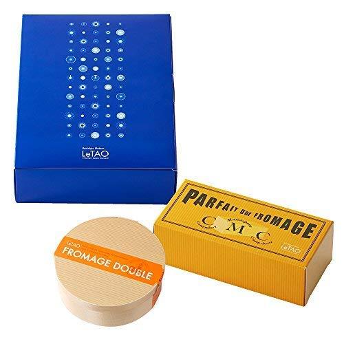 LeTAO(ルタオ) チーズケーキ ギフトボックス 黄金のフロマージュセットA 【ドゥーブルフロマージュ パフェ・ドゥ・フロマージュ (440g)】