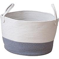 Homyl ストレージバスケット 収納かご 雑貨 オーガナイザー ハンドル付き 全3色2サイズ - グレー, S