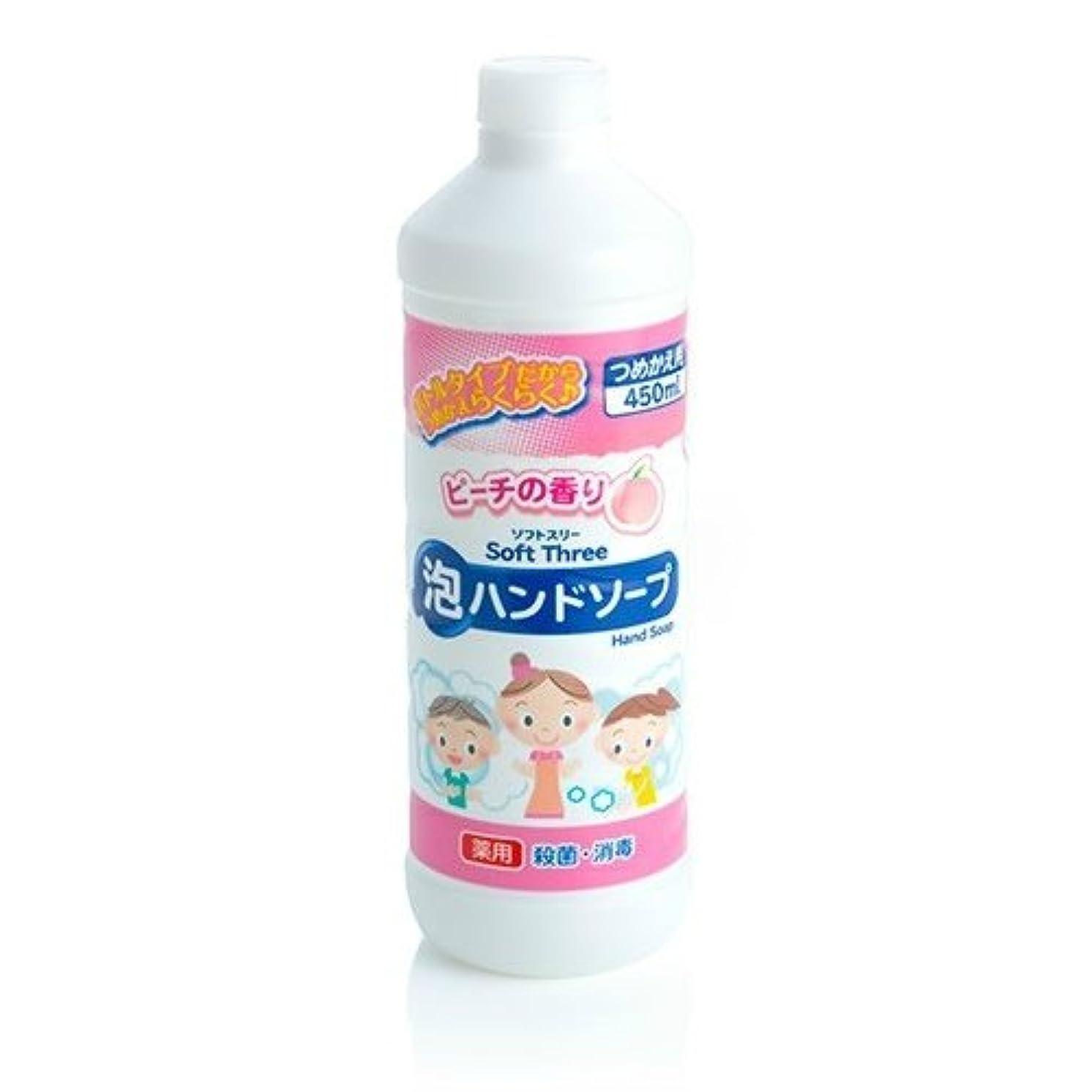 キャップエンディング妊娠したミツエイ ソフトスリー 薬用 ハンドソープ 詰替 ボトル 450ml