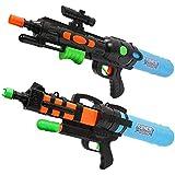 子供のための新しい大きい水鉄砲の高圧浜の屋外の漂うおもちゃ水鉄砲のギフト ( Color : B , Size : L )
