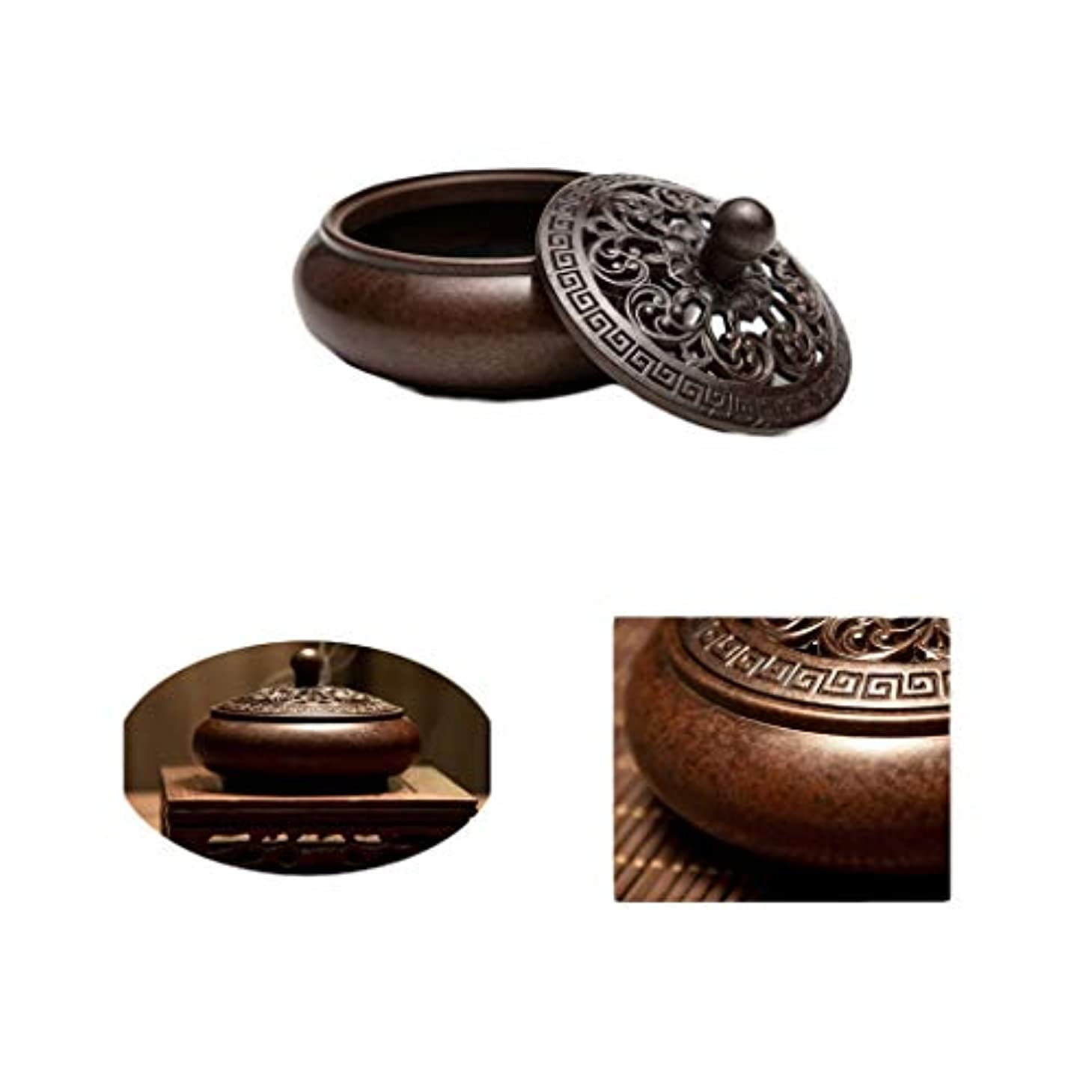 間隔公平な先住民ホームアロマバーナー 純銅香炉アンティーク香炉吉祥香炉手作り香炉 アロマバーナー (Color : Brass)