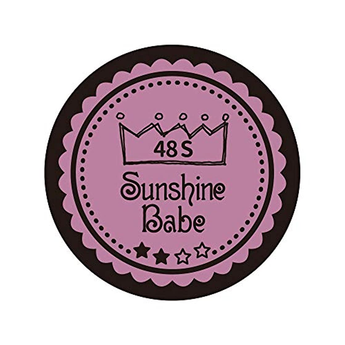 きらめく疲れたロビーSunshine Babe カラージェル 48S ペールモーブ 4g UV/LED対応
