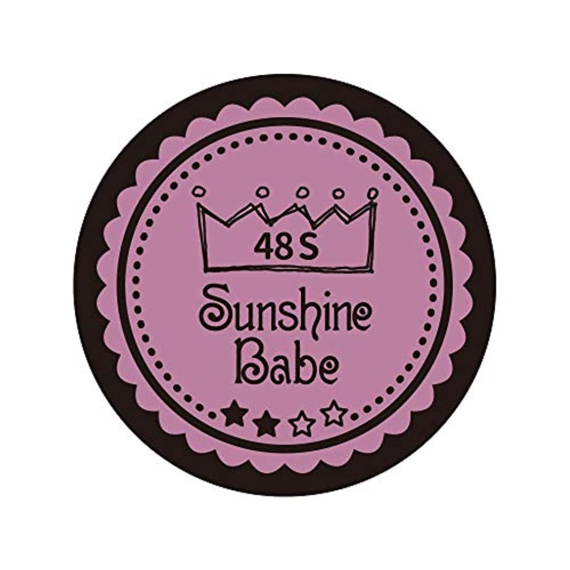 科学的重量未亡人Sunshine Babe カラージェル 48S ペールモーブ 4g UV/LED対応