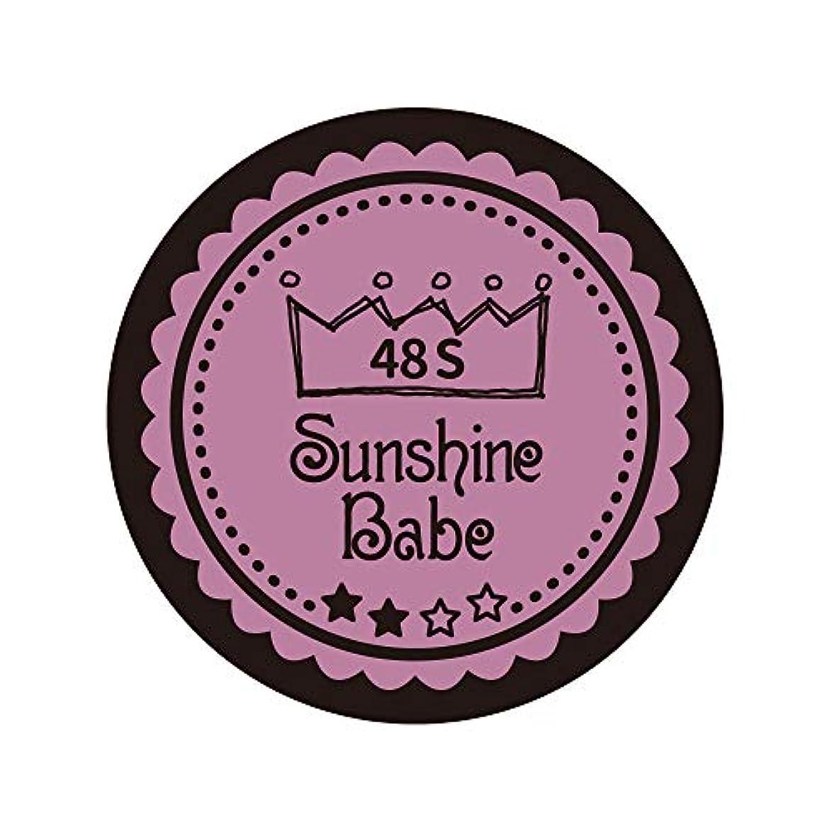 コンパイル広く叫び声Sunshine Babe カラージェル 48S ペールモーブ 2.7g UV/LED対応