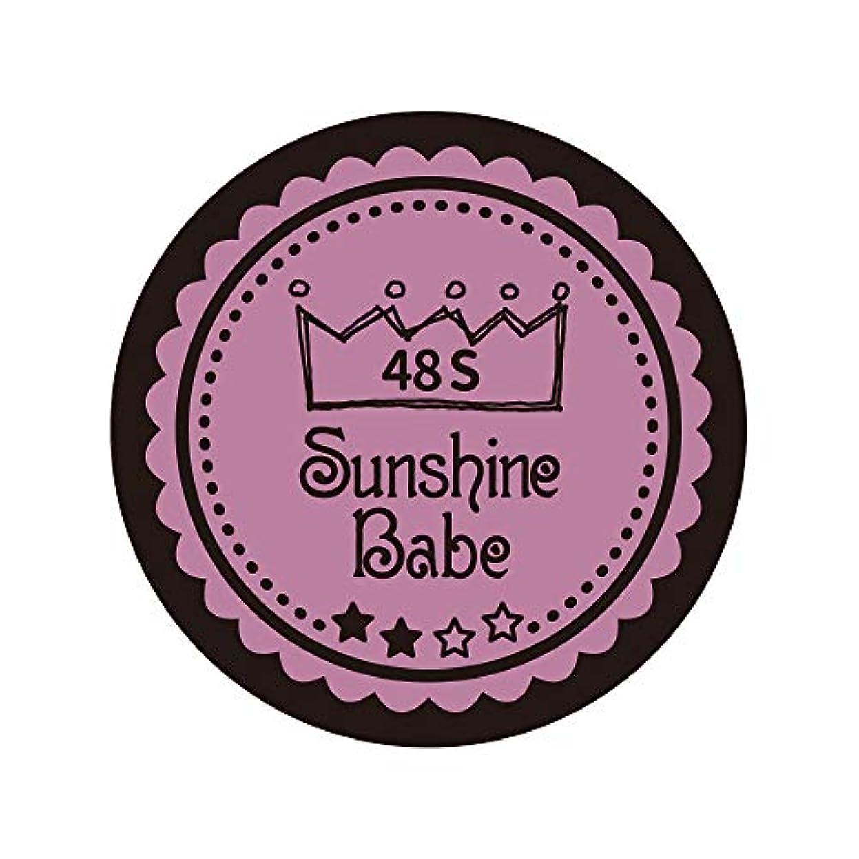 誤解させる哲学者制裁Sunshine Babe カラージェル 48S ペールモーブ 4g UV/LED対応