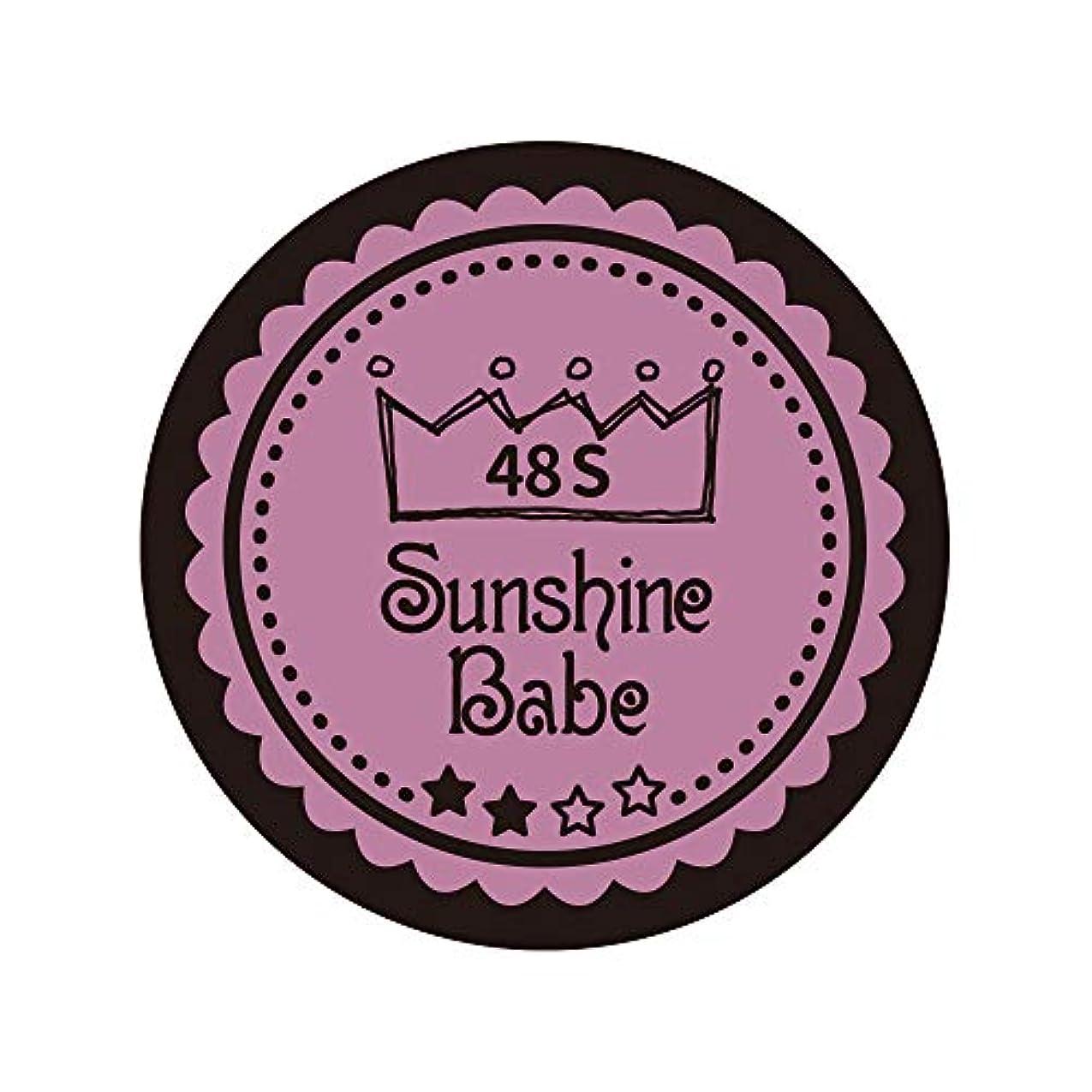 黙認するに対処する溶融Sunshine Babe カラージェル 48S ペールモーブ 4g UV/LED対応