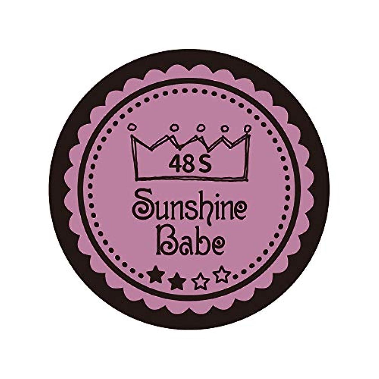 発生するシャワー性差別Sunshine Babe カラージェル 48S ペールモーブ 4g UV/LED対応