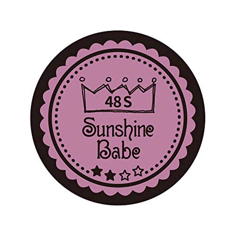 溝いたずら無人Sunshine Babe カラージェル 48S ペールモーブ 4g UV/LED対応