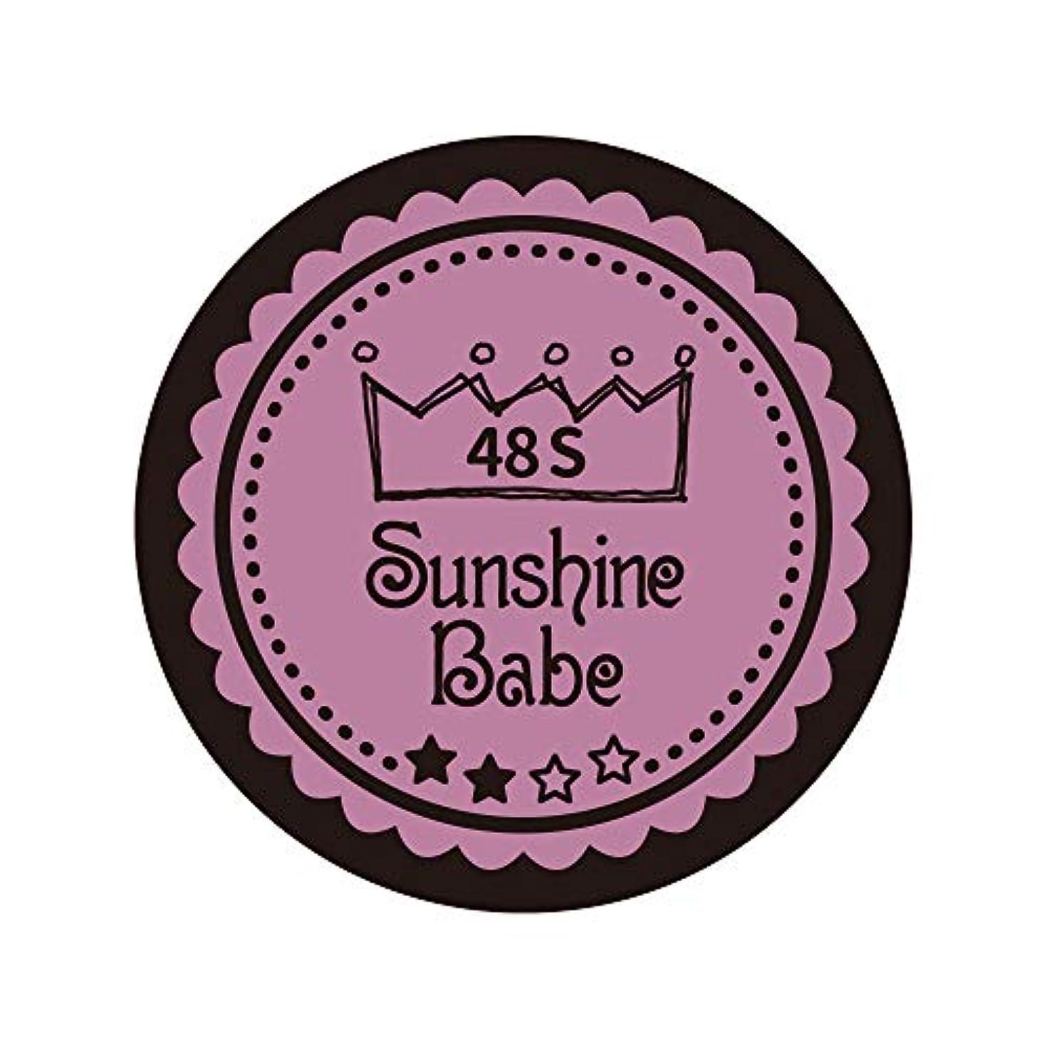 滅多富豪したいSunshine Babe カラージェル 48S ペールモーブ 4g UV/LED対応