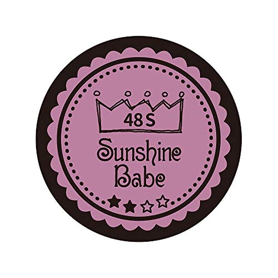 文房具オプション認めるSunshine Babe カラージェル 48S ペールモーブ 2.7g UV/LED対応