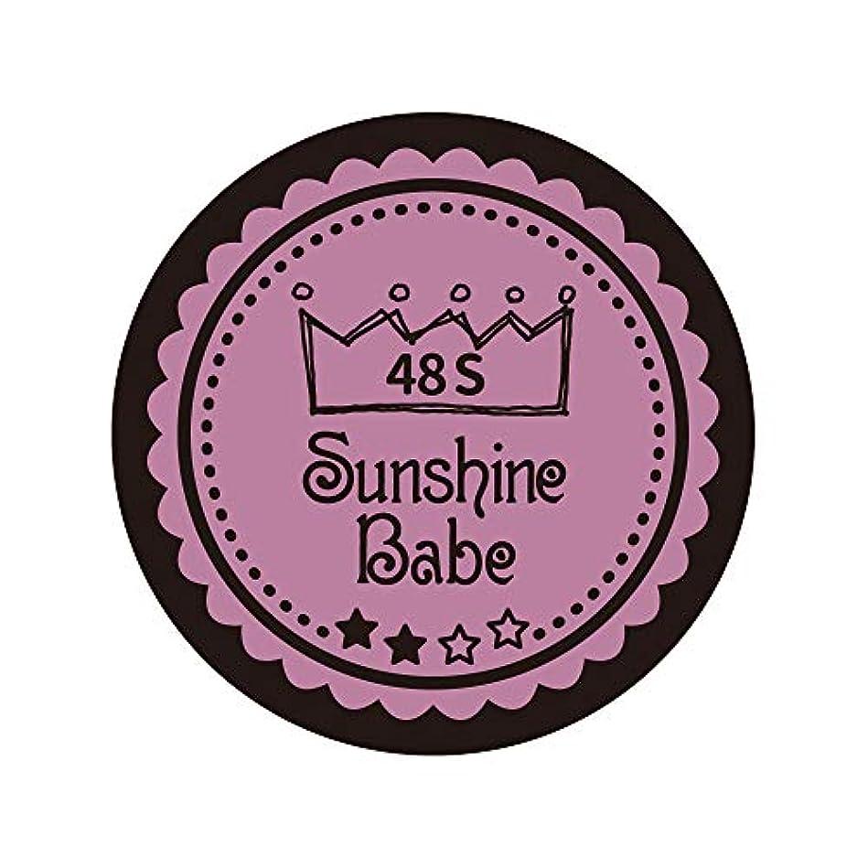 スキー比率加入Sunshine Babe カラージェル 48S ペールモーブ 4g UV/LED対応