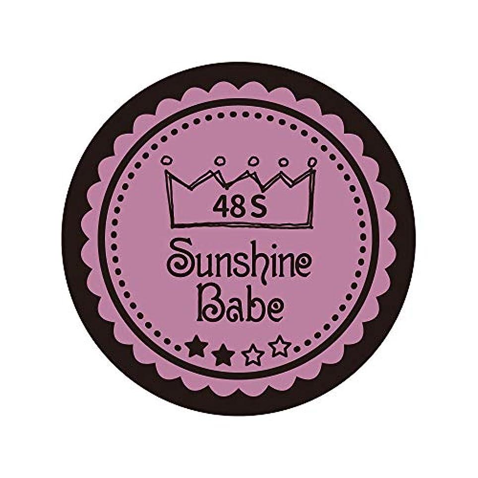 焦げ描写自転車Sunshine Babe カラージェル 48S ペールモーブ 4g UV/LED対応