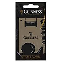 Guinness Credit Card Sized Multi Tool Silver Utility Card With Black Harp Design [並行輸入品]