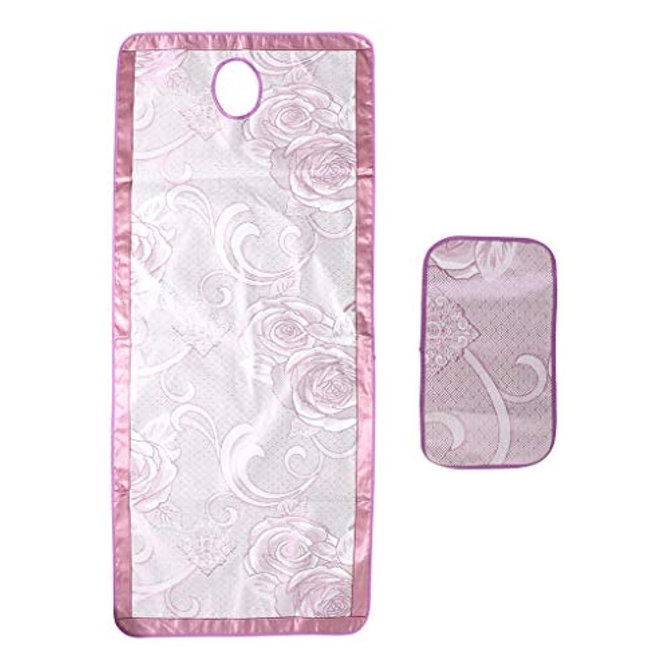 P Prettyia マッサージベッド エステベッドカバー 枕カバー付き ひんやり 敷きパッド 70×190センチ - フローラル4