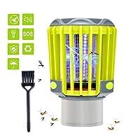 BASEIN蚊ザッパーランプ3 in 1ポータブル蚊キラーランプトーチライトキャンプランタン懐中電灯防水USB充電バグ昆虫蚊ザッパー