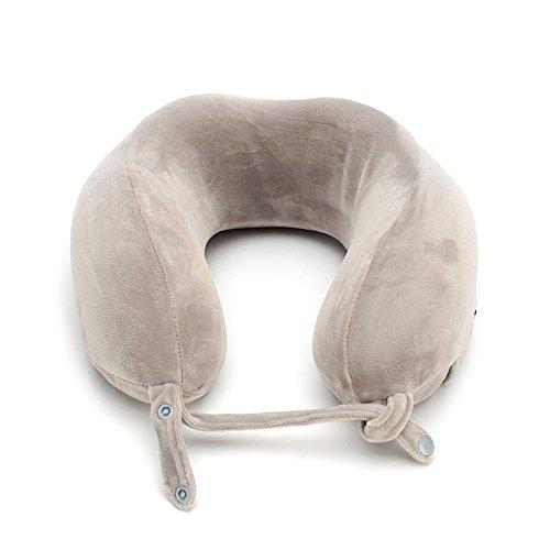 Neckise ネックピロー 低反発 u型枕 ネックピロー トラベルネックピロー ネック枕 携帯枕 洗えるカバー ライトグレー