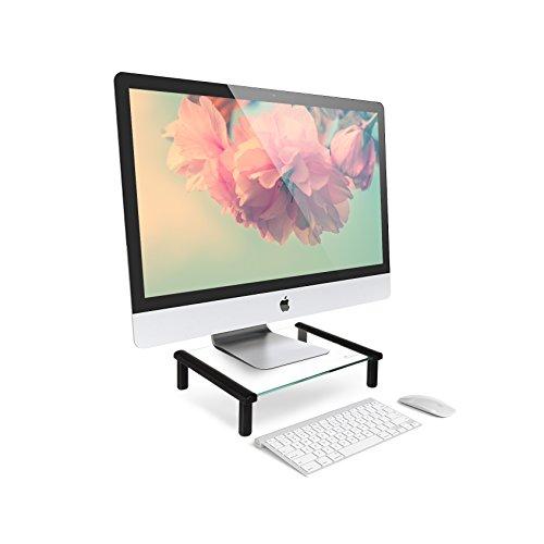 [해외]Huntz INT 높이 조절 가능한 스탠드 - 높이 조절 6.4cm | 11.4cm 2 단계 (Tempered Glass Adjustable Monitor Stand) [병행 수입품]/Huntz INT Height adjustable monitor stand - height adjustment 6.4 cm | 11.4 cm 2 steps (Tempered Glass Adju...