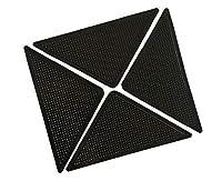 滑り止め シート - Dewin カーペット滑り止め、4枚入り、固定用テープ、三角形、ズレない、吸着式シート、転倒防止、洗える、再利用可能、ゴム製