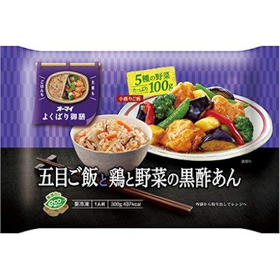 オーマイ よくばり御膳 五目ご飯と鶏と野菜の黒酢あん 300g×6袋