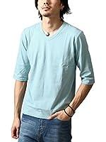 (ジップファイブ) ZIP FIVE 7分袖無地Tシャツ/ファッション D
