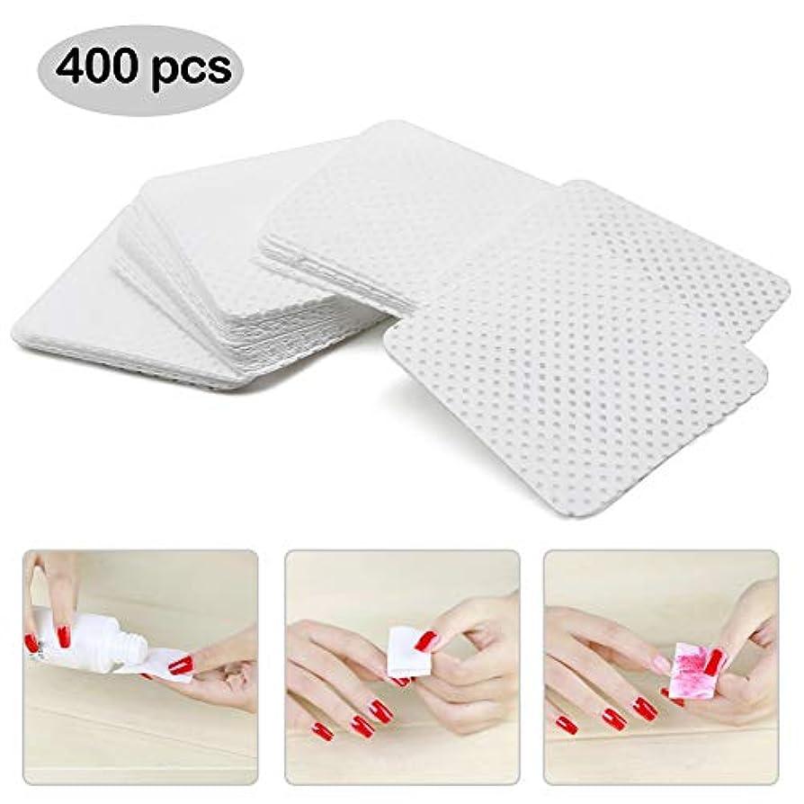 触手形急降下ネイルワイプ コットン ネイルオフ不織布 未硬化ジェルの拭き取り 400枚入り