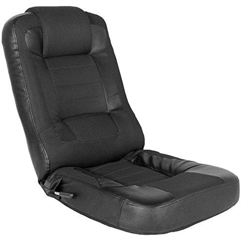 タンスのゲン レーシング 座椅子 メッシュ レバー式 14段階 リクライニング パーソナルチェア ゲーミングチェア ブラック 15110004 BK