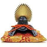 【日本製】 和風インテリア 兜 端午の節句 五月人形 兜飾り  高岡伝統美術工芸品 出世兜(かぶと) 豆兜(座布団付き) 名将 太閤秀吉