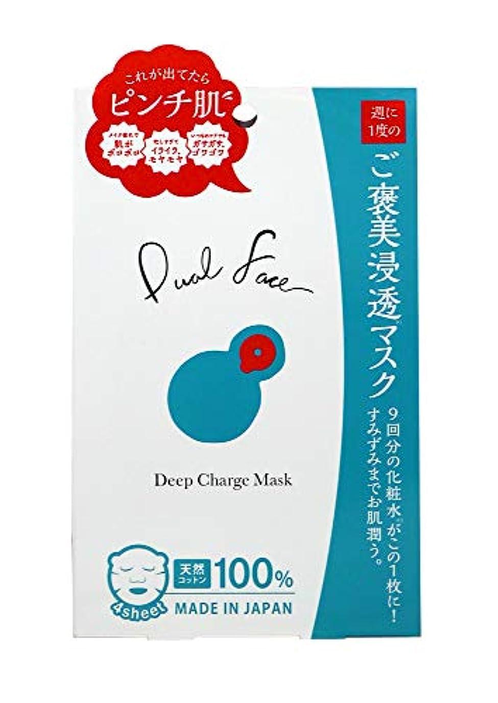 神秘的な泳ぐミルクDualFace ディープチャージマスク