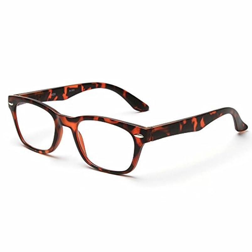 MIDI-ミディ おしゃれな老眼鏡 男女兼用 メンズ レディース お洒落ならウェリントン 快適バネ丁番付き ブラウンデミ (M-203,C2,+3.00)
