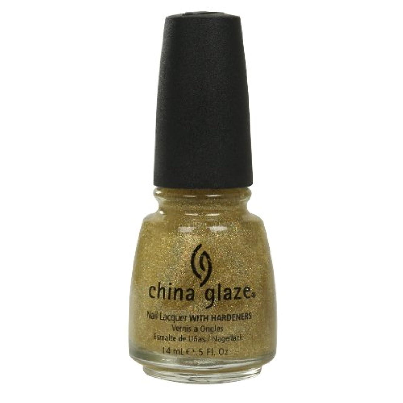 連帯フラッシュのように素早く行動CHINA GLAZE Nail Lacquer with Nail Hardner - Golden Enchantment (並行輸入品)