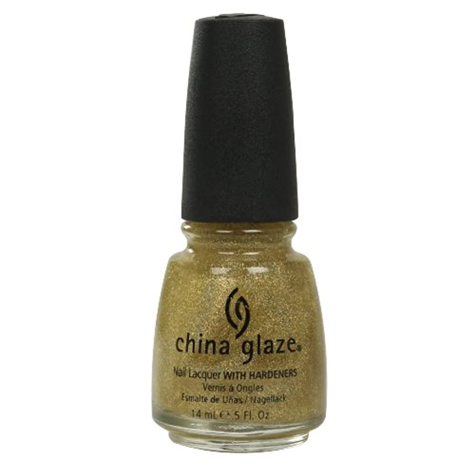 ひどく柔らかい足朝ごはんCHINA GLAZE Nail Lacquer with Nail Hardner - Golden Enchantment (並行輸入品)