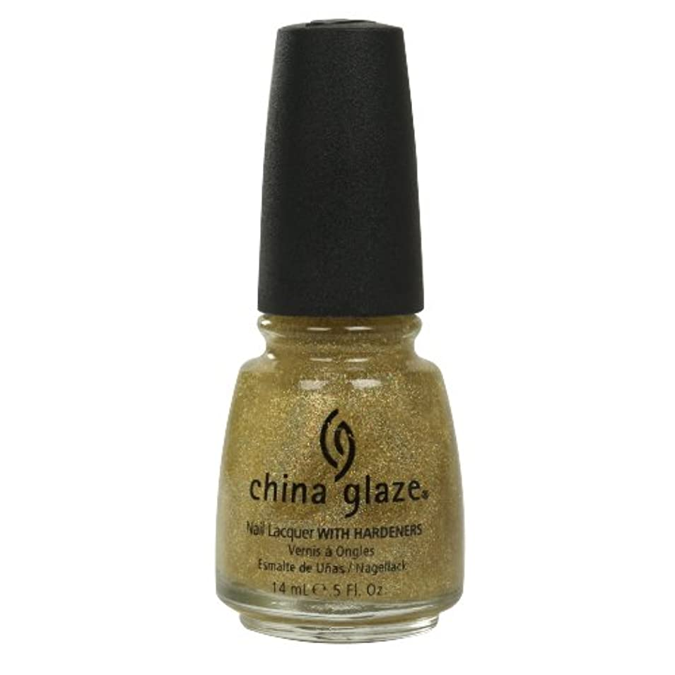 CHINA GLAZE Nail Lacquer with Nail Hardner - Golden Enchantment (並行輸入品)