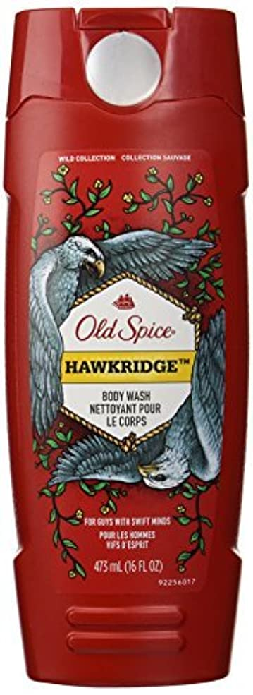 違う宇宙コンパスOld Spice Wild Collection Hawkridge Scent Body Wash, 16 Fluid Ounce [並行輸入品]