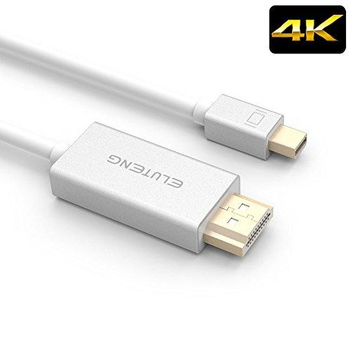 ELUTENG MINI DP to HDMI オス→オス 高解像度4K Mini Displayport HDMI 変換ケーブル Thunderbolt2.0 対応 PowerBook / MacBook 等適用