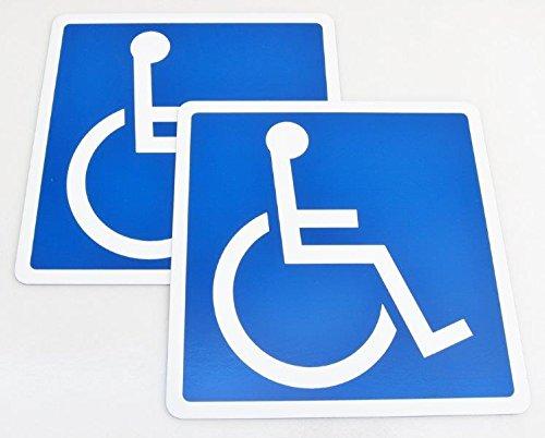車椅子 国際シンボルマーク 2枚入り マグネットタイプ 車椅...