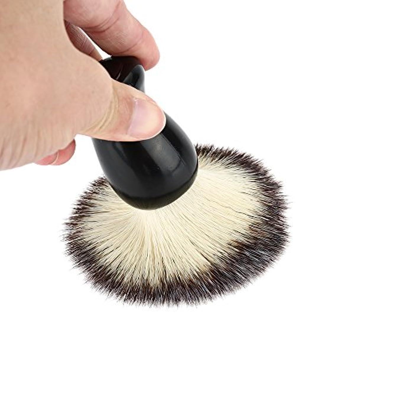 悪い浸透する主流Rakuby シェービングブラシ 髭剃りブラシ シェービングブラシ 男洗顔ブラシ工具 ハンドル 男性用 クリーニング器具